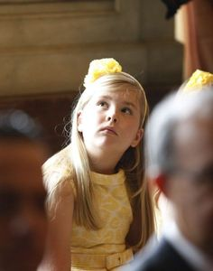 nine-year-old Catharina-Amalia who has become Princess of Orange and is now first in line to the throne