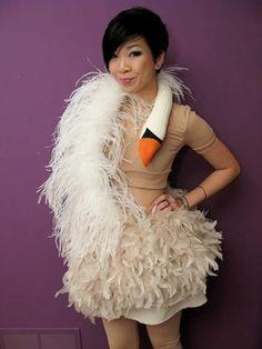 karneval kostüm selber machen schwan kleid