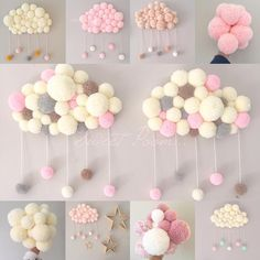 23 Clever DIY Christmas Decoration Ideas By Crafty Panda Pom Pom Rug, Pom Pom Wreath, Pom Poms, Baby Crafts, Diy And Crafts, Arts And Crafts, Pom Pom Crafts, Baby Decor, Diy Room Decor