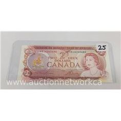 At Sunday's Auction -  Bank of Canada 1974 Two Dollar *Replacement Note (EF)