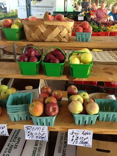 North Carolina apples at piedmont triad farmers market Greensboro NC