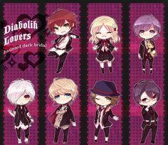 Diabolik lovers : shojo,drame avec vampire un manga qui a été créé à partir d'un jeux video même si je trouve sa dommage qu'il est difficile de trouver l'animé .