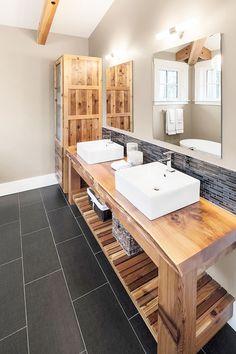 J'M : le meuble en bois et les matériaux wood in bathrooms