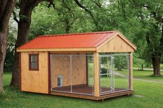Amish made 8'x14' Dog Kennel with 6'x8' Box, 8'x8' Run, Metal Roof and Deluxe Dog Door available in California