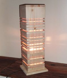 Modern wooden lamp. Original contemporary by Melcreationsbois, €275.00