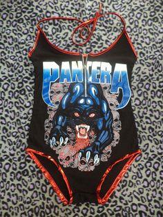 zipper front pantera body suit size small/ by illuminaughtyclthing