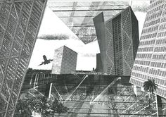 """""""(3/3) Found in the #omaarchive, Hyperbuilding an exploration into the uncontrollable mass of high density buildings """"Hyperbuilding proposed to be a self-…"""""""