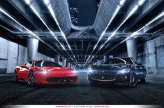 2011 Ferrari 458 Italia & 2011 Maserati GranTurismo S. Which one would you take?