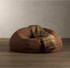 Grand Leather Bean Bag Chair