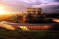 Por do Sol, no Jardim Botânico de Curitiba/Paraná