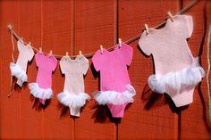 Light Pink Girl's Onesie Ballet Leotard Banner by DixielandDlights