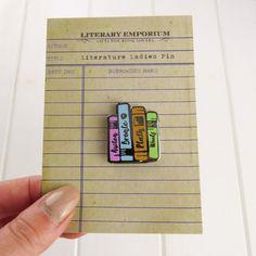 Literature Ladies Enamel Pin Book Pin Badge by LiteraryEmporium