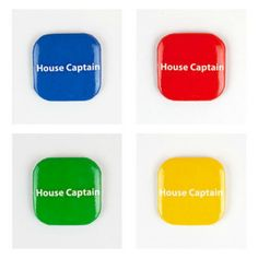 32mm Square Button Badge - House Captain – London Emblem School Badges, Button Badge, Buttons, Instagram Posts, Boy London, House, Products, Badge, Home