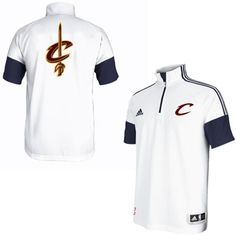 adidas Cleveland Cavaliers White On-Court Game Time Shooting ClimaLITE T-Shirt #cavs #cavaliers #cleveland