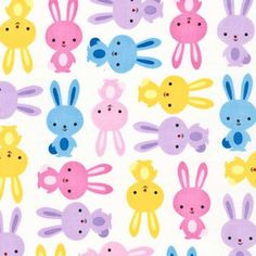 Robert Kaufman - Urban Zoologie Spring Bunnies - cotton fabric