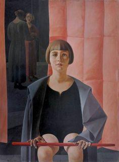 Felice Casorati, Ritratto di Renato Gualino. 1923-1924. Oli sobre fusta, 97 x 74, 5 cm. Viareggio: Istituto Matteuci.