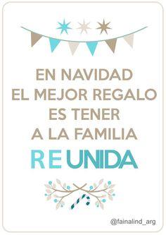 En navidad, el mejor regalo es tener a la familia reUNIDA