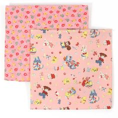 Lecien Merry Bonbon Bon Bon Fabric Bundle 1 yard  by 3BagsFulled (Craft Supplies & Tools, Fabric, quilting fabric, merry bonbon fabric, lecien merry bon bon, animal laundry day, animal postcards, squirrel and cat, Bunny and puppy, out of print, novelty fabric, kawaii fabric, lecien made in japan, polka dots, zakka fabric)