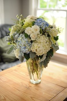 blue and white wedding flowers Fresh Cuts