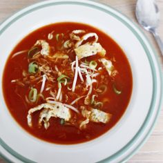 Chinese Maaltijd Tomatensoep - Hungry For Healthy Food Thai Red Curry, Healthy Recipes, Healthy Food, Chili, Chinese, Ethnic Recipes, Healthy Foods, Healthy Eating Facts, Chilis