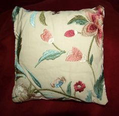 Hand Embroidered Indian Silk Thread Linen by cushioncoutureuk