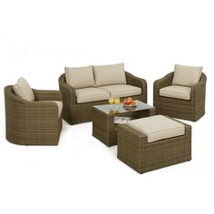 maze rattan garden furniture tuscany washington sofa set - Garden Furniture Nottingham