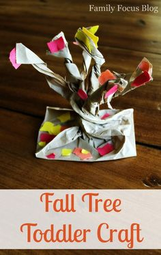 Fall Preschool Craft: Make A 3D Tree With Fall Foliage via @familyfocusblog