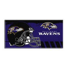 Baltimore Ravens NFL Fiber Reactive Beach Towel (Gameplan Series) (28in x 58in)