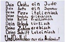 Werbekampagne der Deutschen Städte Reklame gegen ausländerfeindliche Übergriffe Anfang der 1990er Jahre