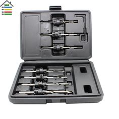 Free Shipping New 22pc Countersink Drill Bit Set Adjustable Depth Stop Collar Woodworking Drilling Hole Saw With Case