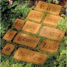 homemade garden tiles