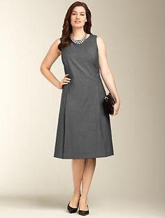 Talbots - Seasonless Wool A-line Dress   Seasonless Wool-Blend   Woman