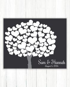 Wedding Guest Book Alternative Art Print Heart by CaldsonDesigns