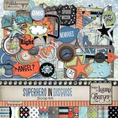 SuperHero in Disguise Scrap Kit
