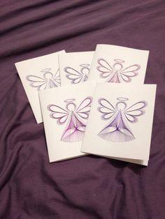 Purple Angel Set by Sew Cute Cards www.facebook.com/sewcutecards  http://sewcute.storenvy.com