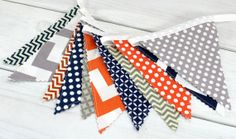 Bunting Banner Photography Prop Fabric Flags by thespottedbarn