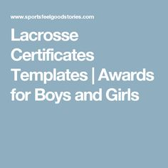 Sports certificates templates to create awards lacrosse lacrosse lacrosse certificates templates awards for boys and girls yelopaper Gallery