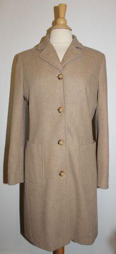 J.Crew Womens Peacoat Topcoat Coat Jacket Size S Small Brown  #JCrew #Peacoat
