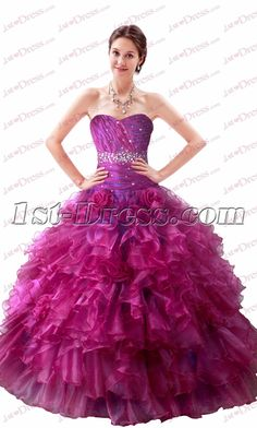 1b09855104a 1st-dress.com Offers High Quality Beautiful Strapless Fuchsia Quinceanera  Dresses 2017