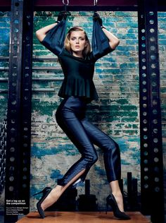 She Better Work (Out) – Lily Donaldson hits the gym in Sharif Hamza's high gloss story shot for V Magazine #76. Garbed in minimalist chic looks selected by fashion editor Tom Van Dorpe, Lily pumps some iron in the designs of Burberry Prorsum, Lanvin, Dior, Giorgio Armani and others. / Hair by Akki, Makeup by Romy Soleimani