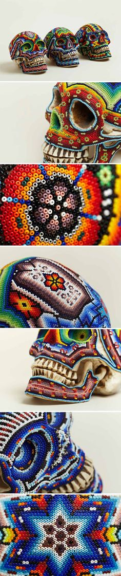 LN-CC: EXCLUSIVE BEADED SKULLS BY OUR EXQUISITE CORPSE