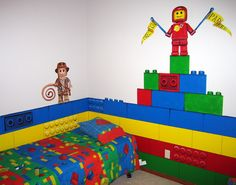 brick lego room for the toy room - Brick Kids Room Decor