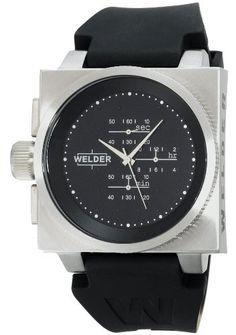Men's K26 Stainless Steel Case Black Dial Black Rubber Strap Chronograph Interchangeable Filters Welder. $274.00. Save 78%!