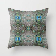 Peacock Pattern, Cushion, Xmas gift, christmas gift Throw Pillow