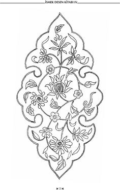 Patterns for spot painting by contours Islamic Art Pattern, Arabic Pattern, Pattern Art, Stencil Designs, Applique Designs, Quilting Designs, Flower Pattern Drawing, Flower Patterns, Arabesque Pattern