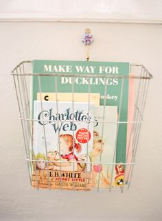 Wire book basket