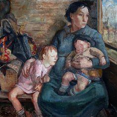 Söderlångvik | Amos Anderson taidemuseo Adelina Zandrinon 3. luokan junanvaunussa