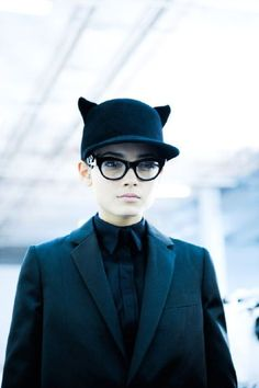 givenchy cat hat on model