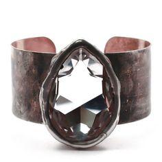 Mikal Winn Brass Cuff with Crystal