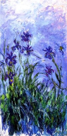 -Claude Monet - Lilac Irises, 1914-17